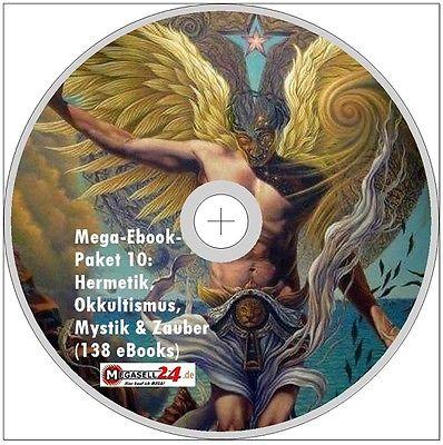 Hermetik Okkultismus Mystik Zauber Mega-Ebook-Paket 10 CD-Versand 138 eBooks PDF