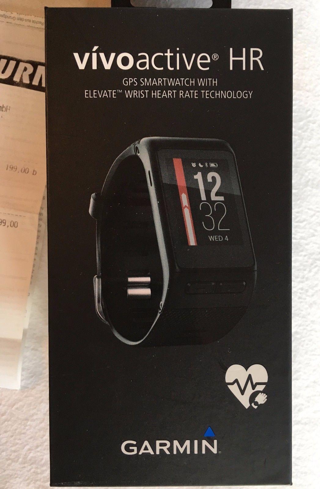 Garmin Vivoactive HR Fitness Tracker Smartwatch GPS Sport Uhr