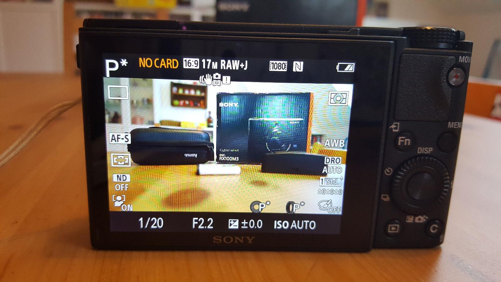 Sony CyberShot DSC RX100 M3 III 20.1 MP Digitalkamera - wie NEU Garantie