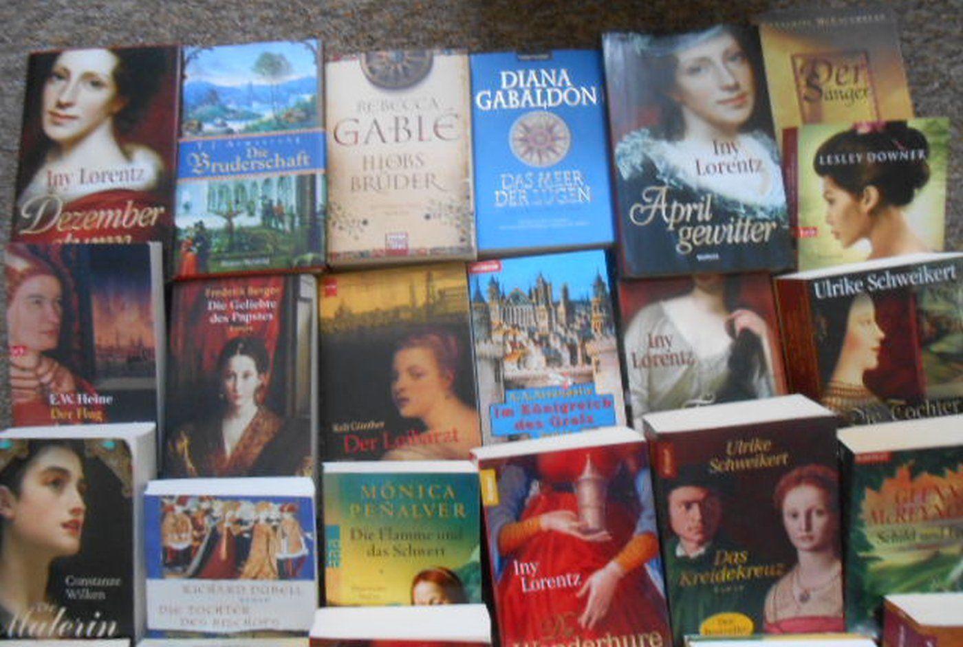 Buchpaket 34 historische Romane, TB und geb. Ausgaben, versch. Autoren