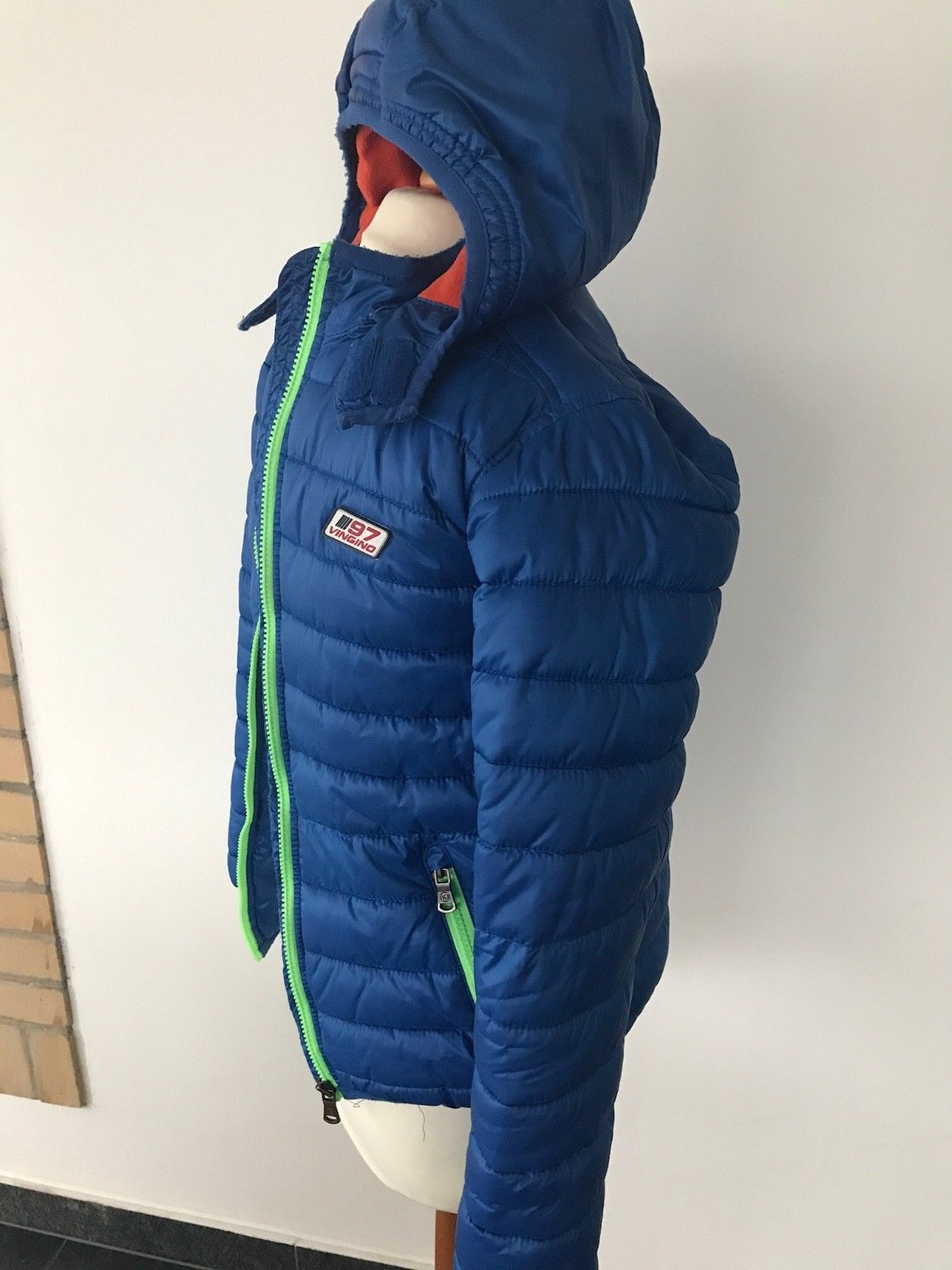 Vingino - Winterjacke mit Kapuze Kinderjacke Jacke Jungen Blau 12 Jahre Gr. 152