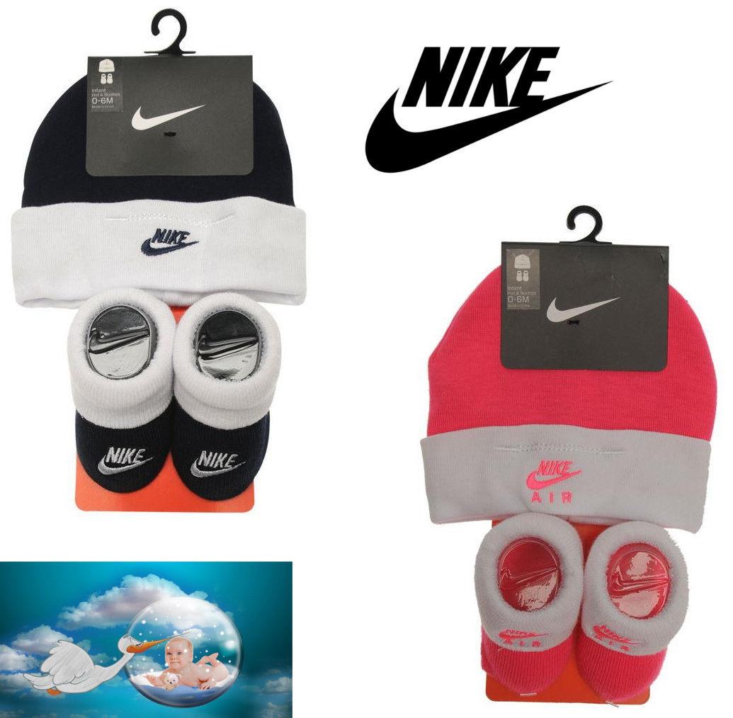 Nike Baby Debut 2er Set Schuhe + Mütze Jungen Mädchen Gr.0-3Monate Pink Obsidian