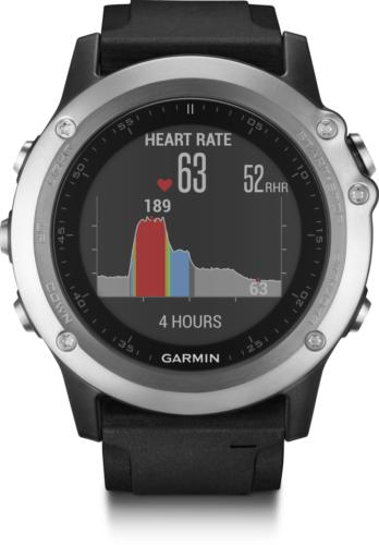 Garmin fenix 3 HR Silber GPS Multisportuhr Fitnesstracker Schrittzähler 1,2