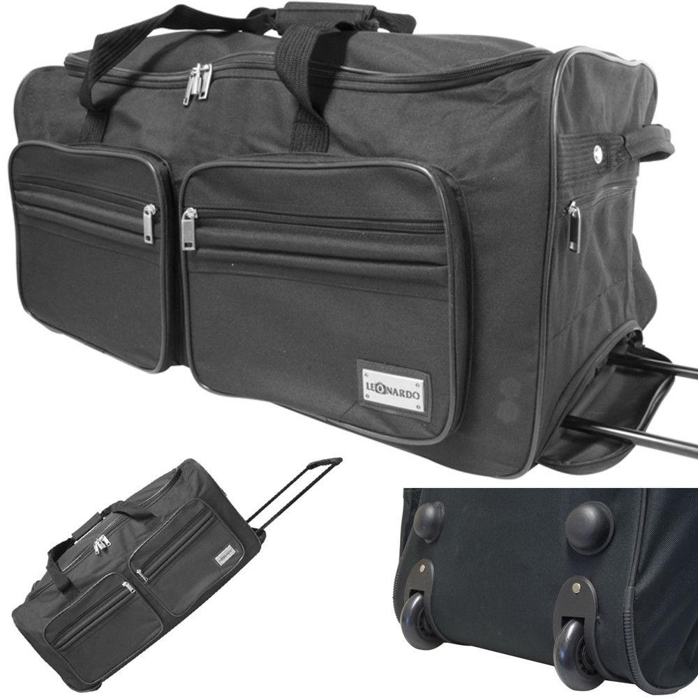 Reisetasche mit 2 Rollen Jumbo XXL Trolley Sporttasche 90L Trolly Koffer Tasche