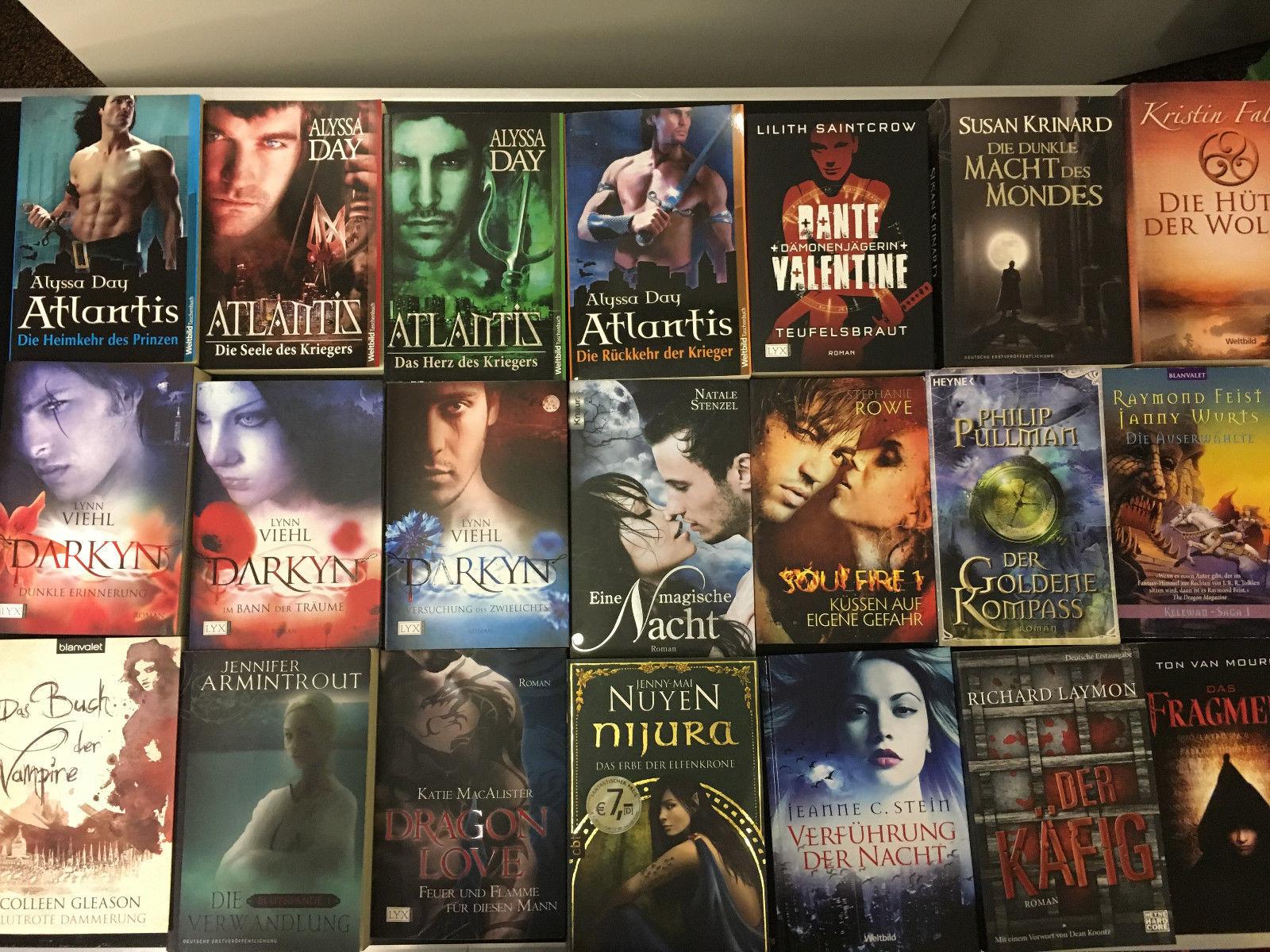 21x Fantasy: DARKYN, Atlantis, Nijuria, Soulfire, Vampirbücher Magie &Zauberei