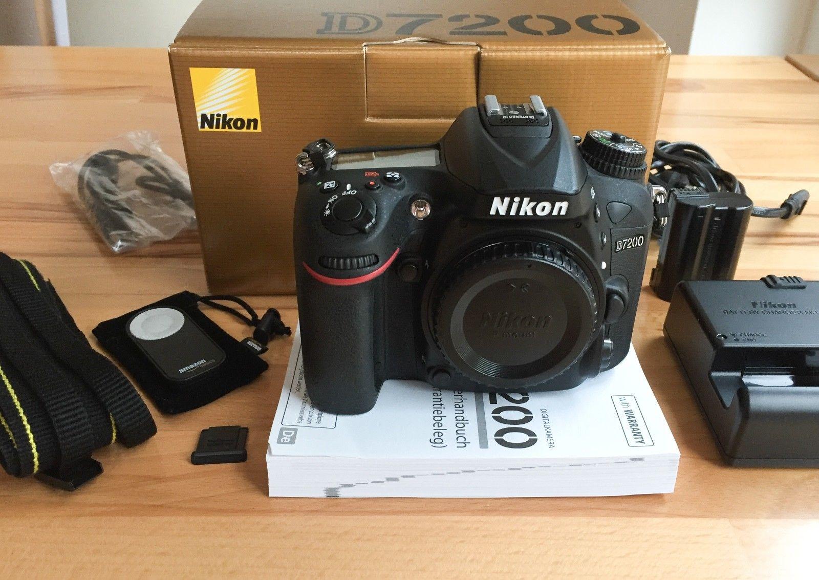 TOP Zustand! Nikon D7200 24.2 MP DSLR-Digitalkamera - Body (Gehäuse), in OVP
