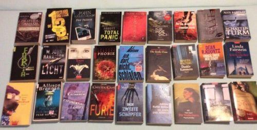 ? 27 Bücher. Thriller. Romane. Bücherpaket. Büchersammlung. Konvolut. z.T. NEU