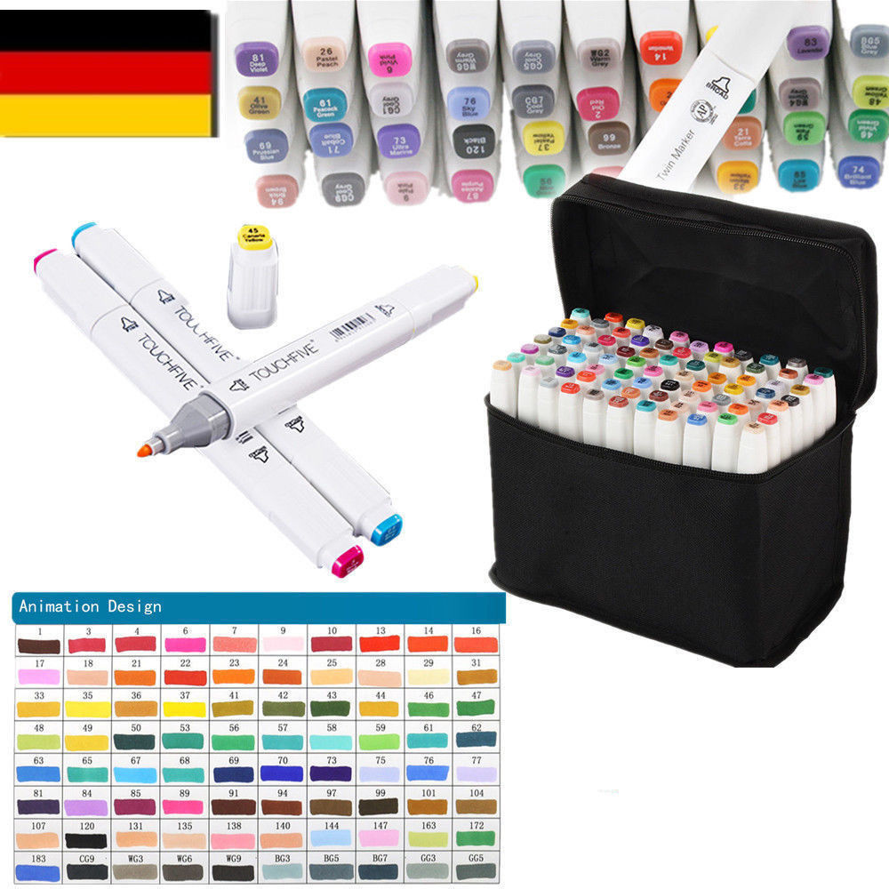 80er Graphic Marker TouchFive Twin Alcohol Sketch Marker Penpainting markers