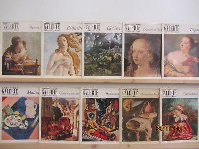Bastei Galerie der grossen Maler 40 Bände Bildmappen Maler Malerei Gemälde