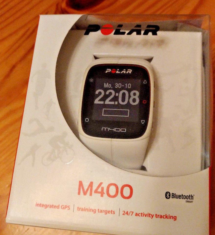 Polar M400 weiß, Sportuhr, Laufuhr, GPS, Herzfrequenzmesser, Aktivitätstracker