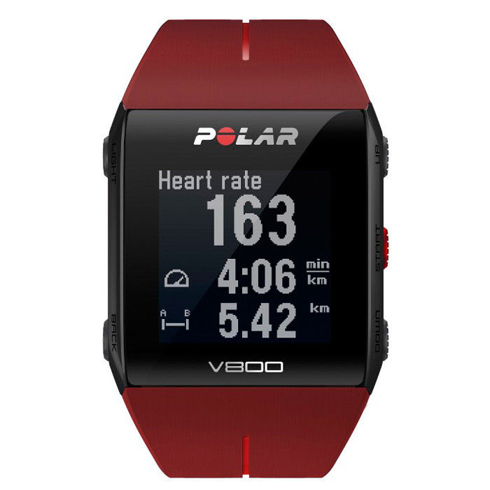 Polar V800 HR mit Brustgurt GPS Pulsuhr Sportuhr Sports Watch rot Fitness NEU