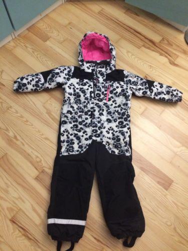 TOP Mädchen Schneeanzug H&M 116 pink Skianzug Schnee Overall Einteiler 122