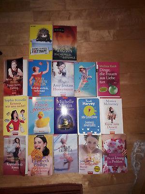 Bücherpaket 17 Frauenromane;  Brown+Harvey*Gibson+Kinsella+Phillips+Gier u. a.