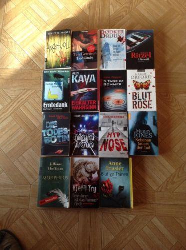 krimi thriller paket 15 Taschenbücher + Bonustitel, Bücherpaket Krimis/Thriller