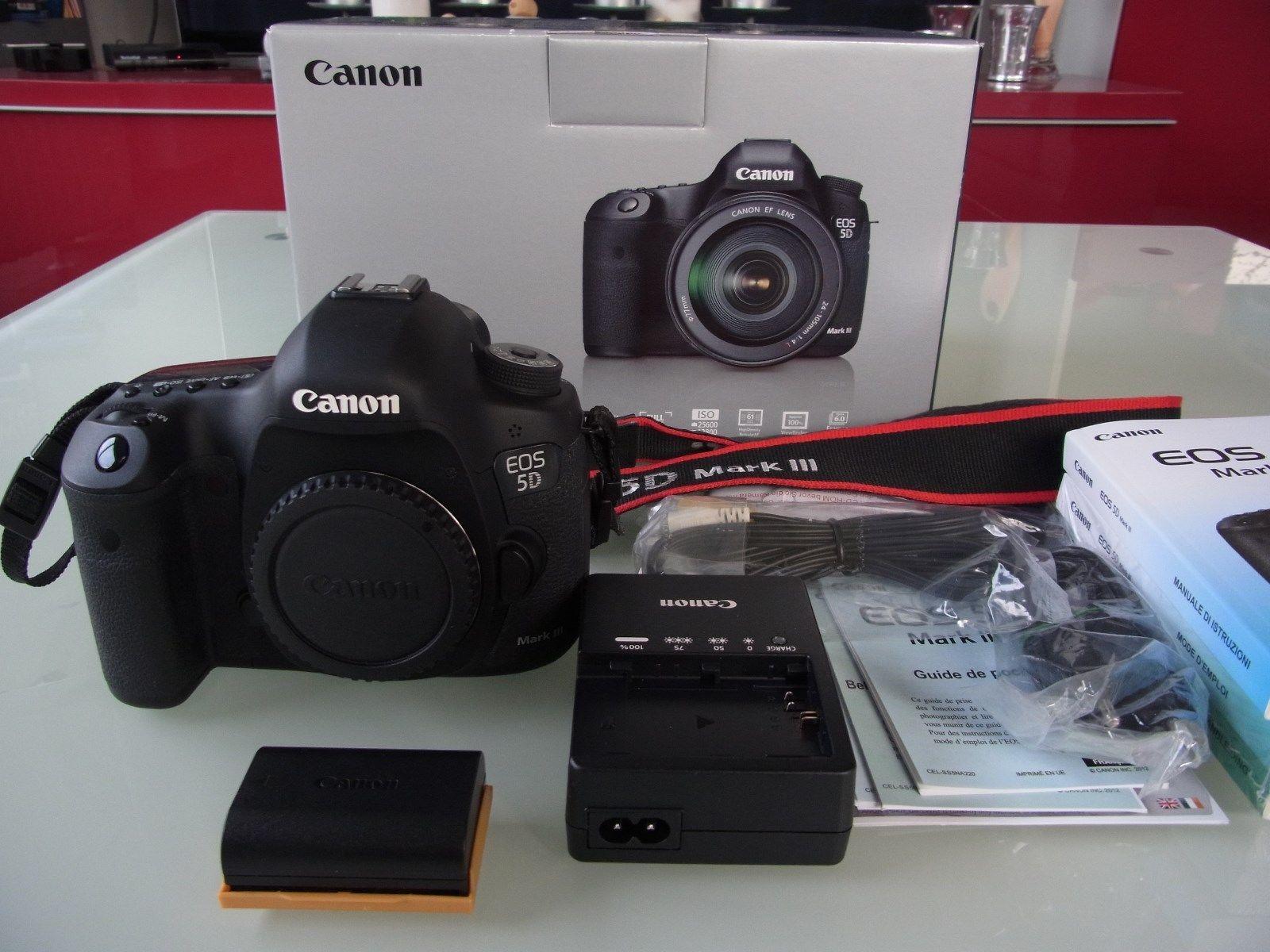 Canon EOS 5D Mark III (Nur Gehäuse) - sehr gepflegt, unter 10.000 Auslösungen
