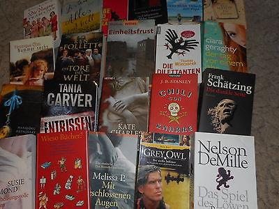 Taschen-Bücher-Konvolut 30 Stk. gemischte Auswahl-Romane-Thriller usw
