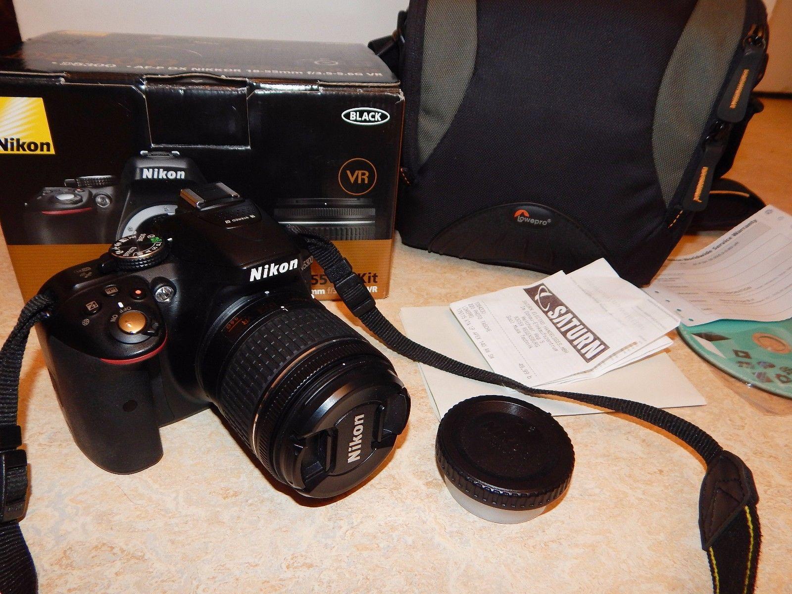 Wie Neu! Nikon D 5300 24.2MP Digitalkamera Schwarz (mit AF-P 18-55mm Objektiv)