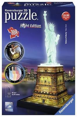 Ravensburger 12596 - Freiheitsstatue bei Nacht, 3D-