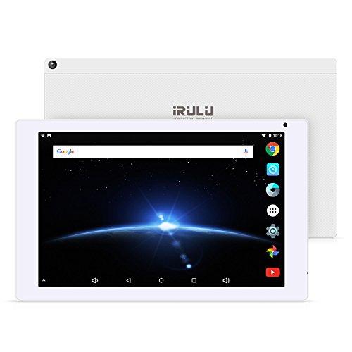 iRULU 10,1 Zoll Android OS 7,1 Tablet 2GB/32GB 1200 * 1920 IPS Bildschirm Bluetooth 4,0 Dual Cameras Expro 4 plus Tablet (X4 Plus Weiß)
