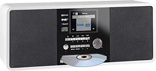 Imperial 22-237-00 Dabman i200 Internet-/DAB+ Radio mit CD-Player (Stereo Sound, UKW, WLAN,  Aux In, Line-Out, Kopfhörer Ausgang, Inklusiv Netzteil) weiß