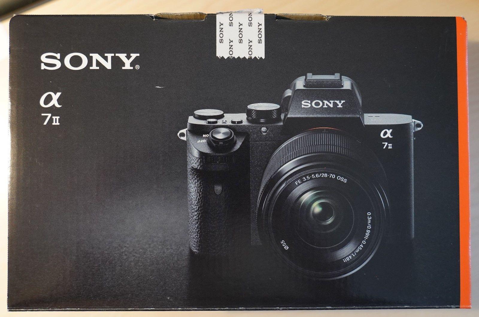 Sony alpha 7 II , 24,3 MP, Vollformat, Kit 28 - 70 mm +++ TOP ZUSTAND in OVP