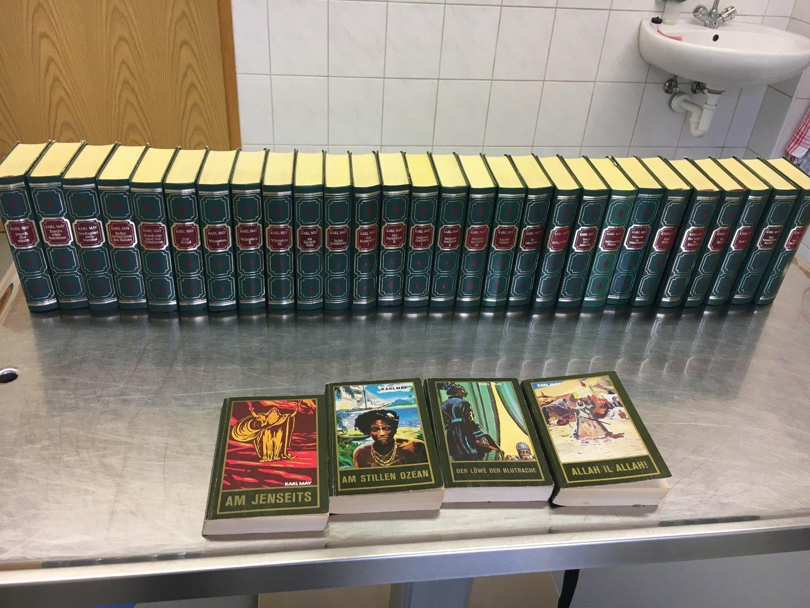 Karl May Bücher Sammlung, Tosa-Verlag, 28 Bücher + 4 Taschenbücher
