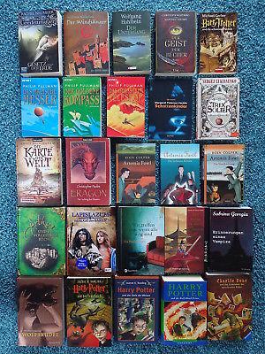 Bücherpaket 25 x Fantasy Bücher: Paolini Buckingham Rowling Lukianenko Pullman