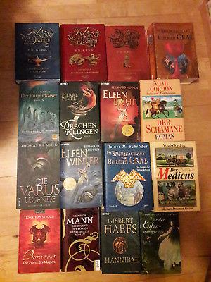 Bücherpaket 20 Historische Romane+Fantasy+Kinder/Jugendliteratur+Schröder+Hennen