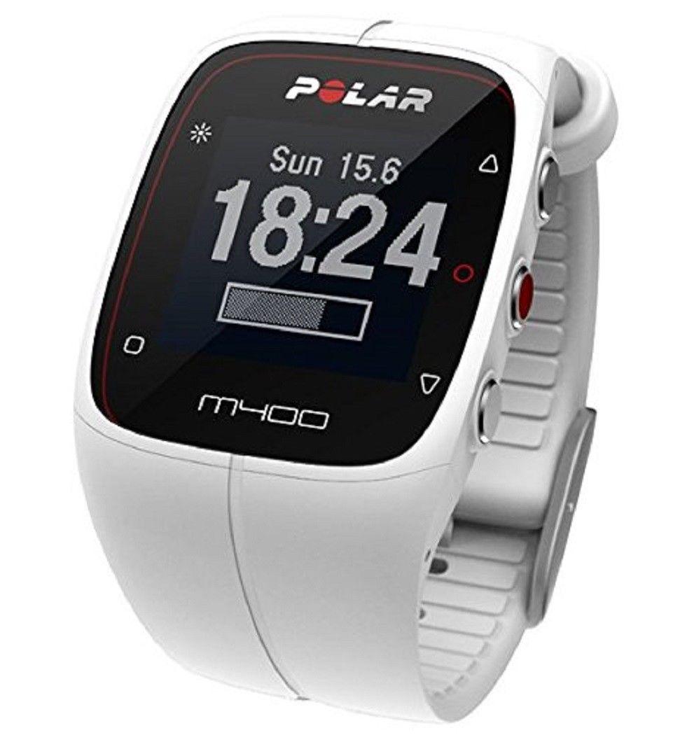 POLAR M400 - GPS Laufuhr - Trainingscomputer - Weiß - ohne Brustgurt