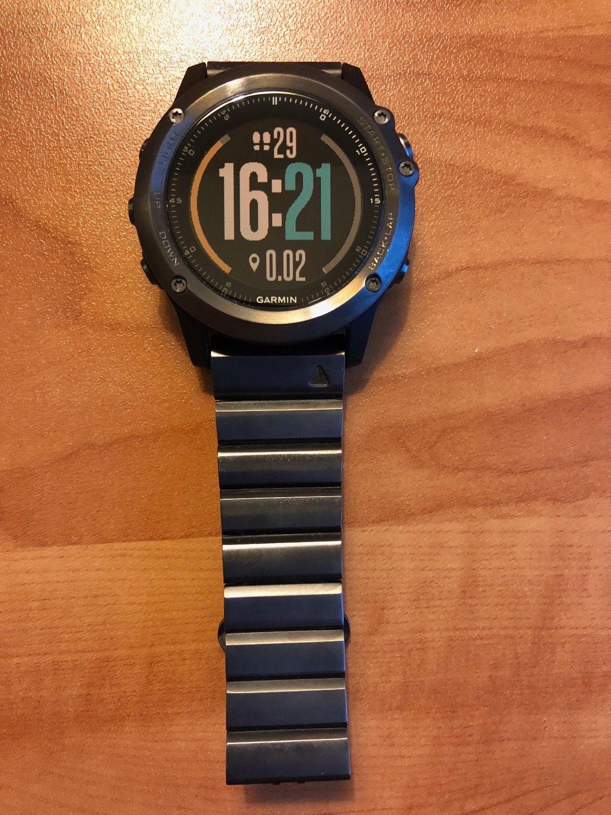 Garmin fenix 3 Schwarz GPS Sportuhr Saphirglas Kompass Navigation Höhenmesser