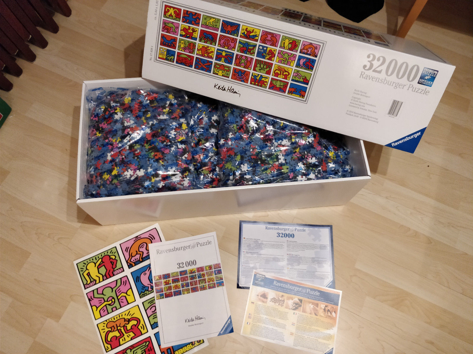 32000 Teile Ravensburger® Puzzle 17838 Keith Haring Double Retrospect 32.000