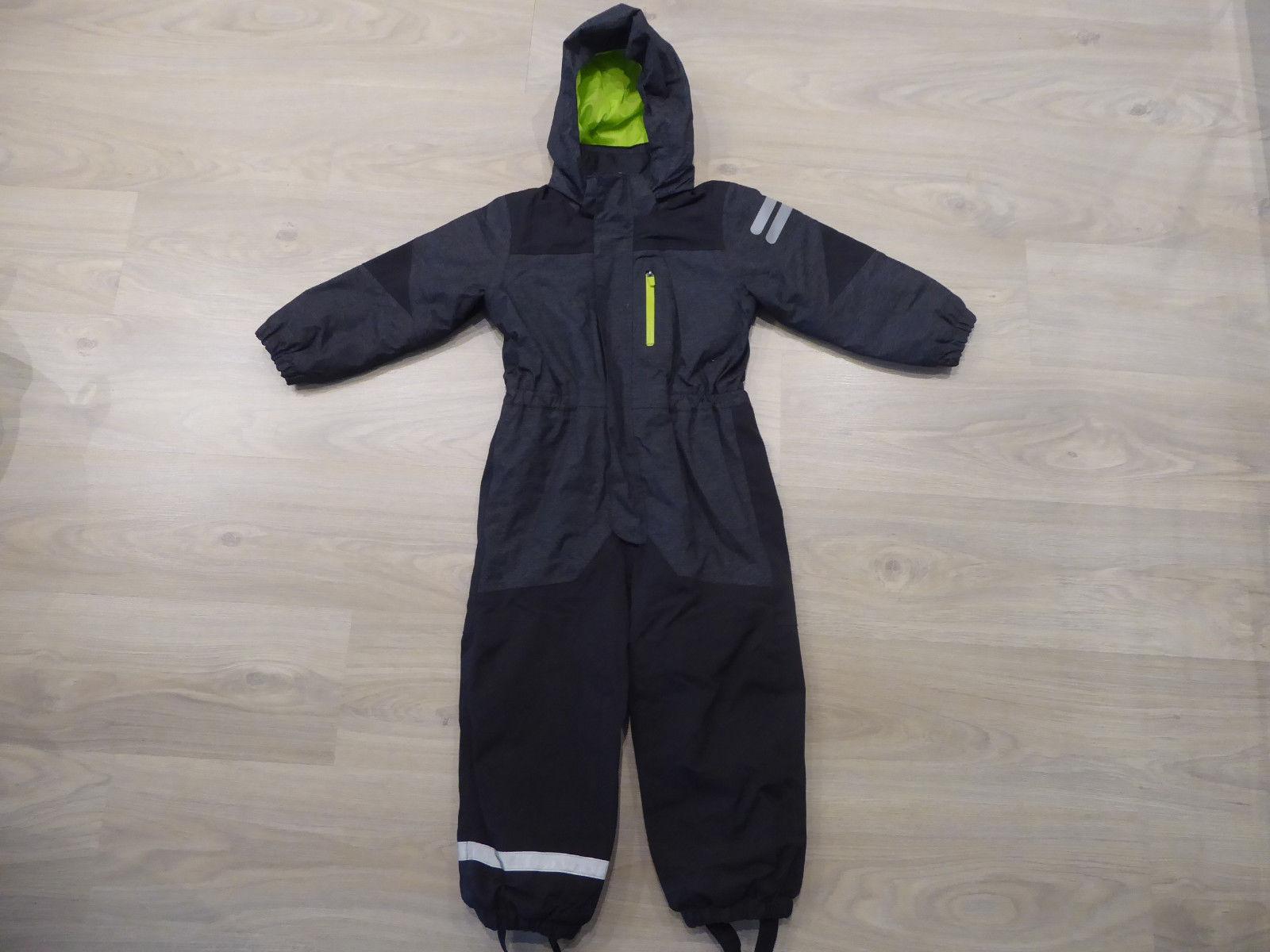 cooler Schneeanzug Gr. 110 H&M Overall Einteiler schwarz grau Winter Top!