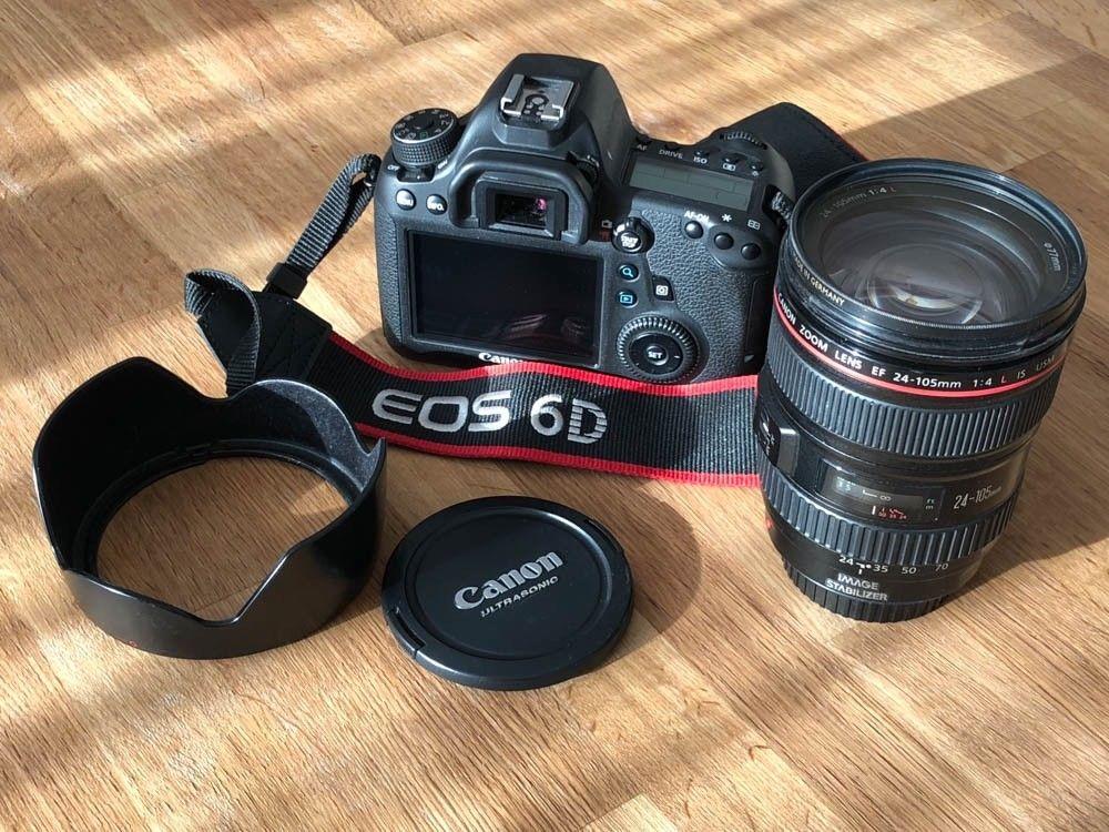 Canon EOS 6D mit EF 24-105mm f/4.0L und EF 50 f/1.8 und Blitz Speedlite 430EX II