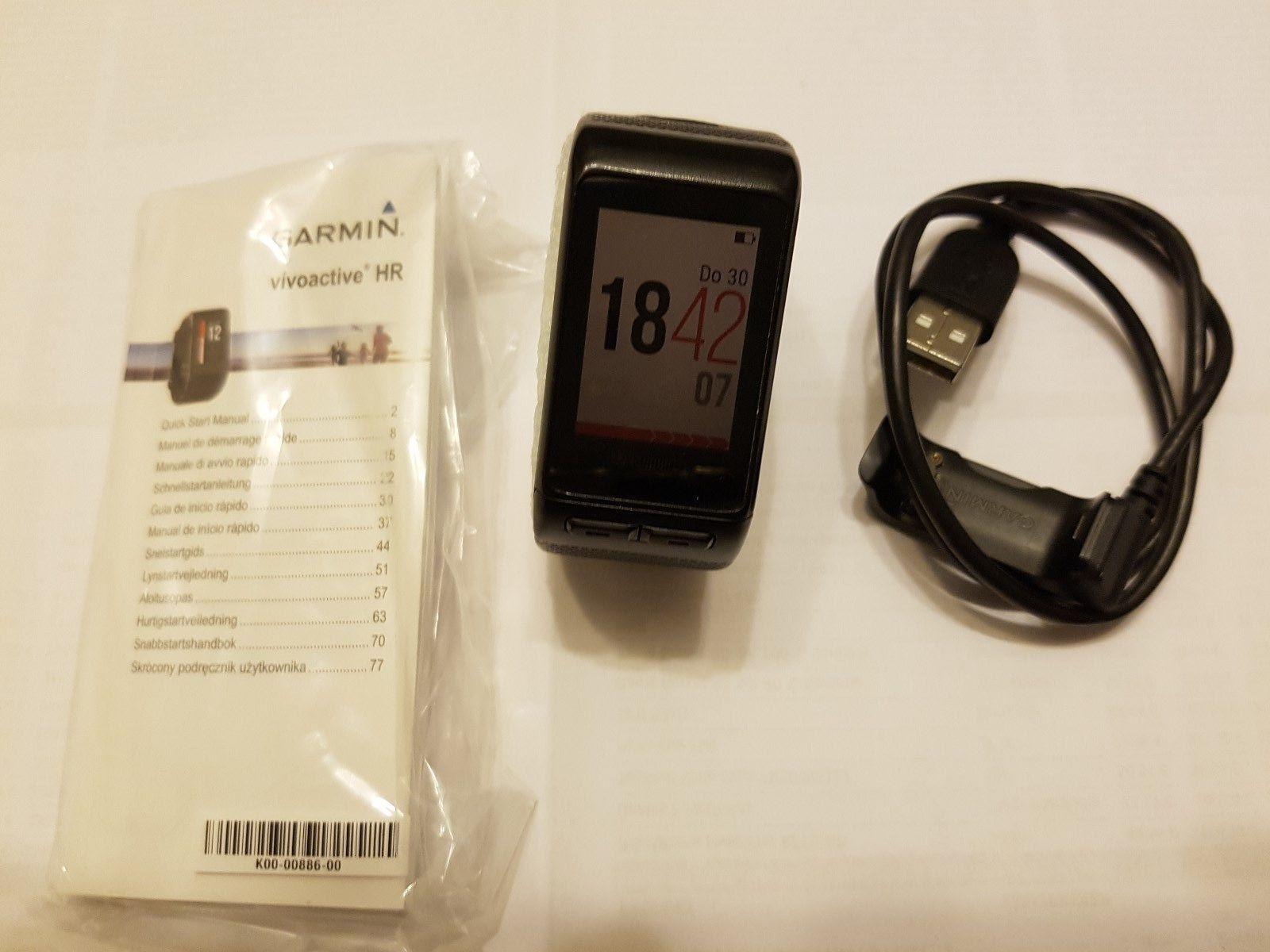 GARMIN VIVOACTIVE HR Fitness Tracker Smartwatch GPS Sport Uhr - WIE NEU!