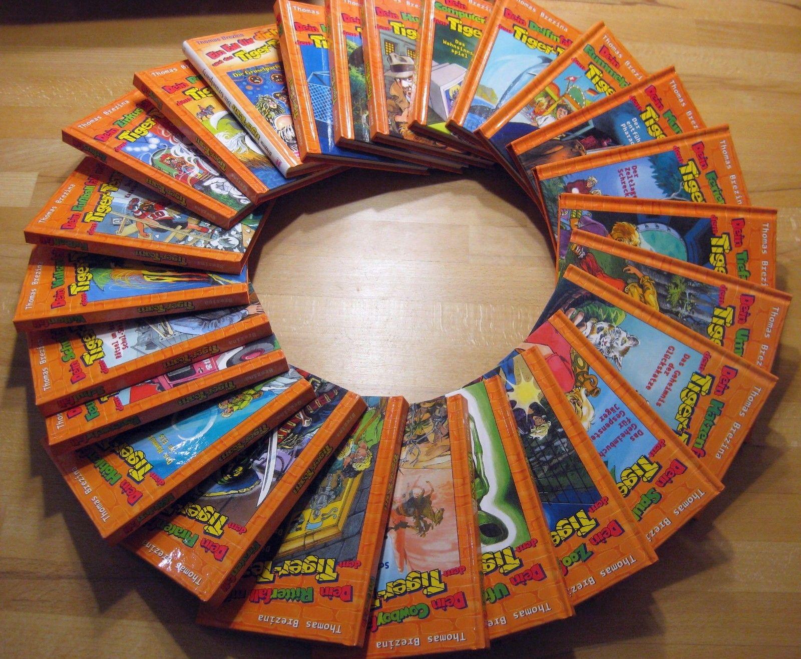 24 Kinderbücher Tiger-Team ( Thomas Brezina ) Bücher-Sammlung Set