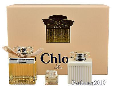 Chloe Chloe set 75 ml Eau de Parfum + 5 ml edp + 100 ml Body Lotion Neu