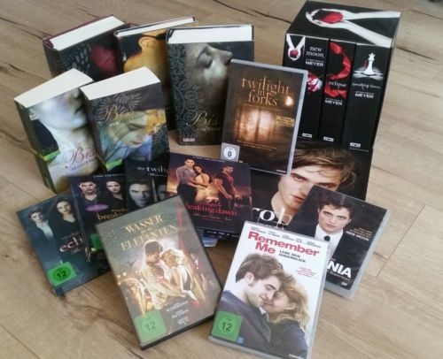 Twilight Fan Paket DVD Buch 1 2 3 4 Robert Pattinson Biss Breaking Dawn 1-4