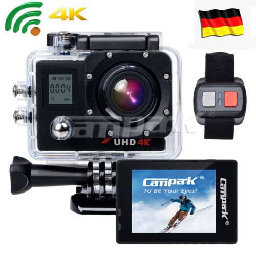 Campark ACT76 Action Kamera Sport Cam 16MP 4K 1080P Wifi mit Dual LCD Bildschirm