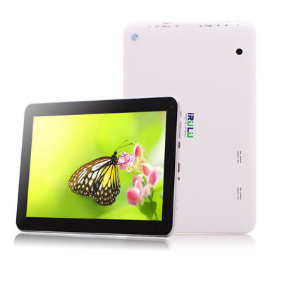 iRULU 10,1 Zoll Tablet PC Android Quad Core 8GB HD Bluetooth WLAN Front Schwarz