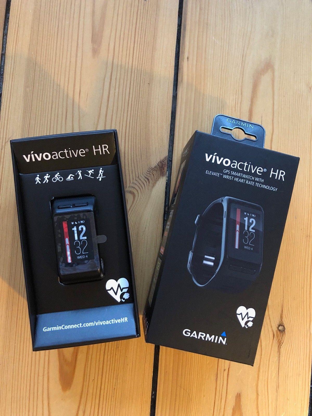 Garmin Vivoactive HR Fitness Tracker Smartwatch GPS Sport Uhr schwarz