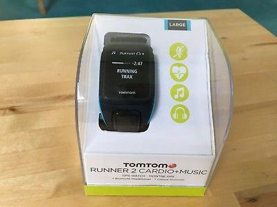 Tomtom Runner 2 Cardio Music GPS Laufuhr neu, Bluetooth Kopfhörer