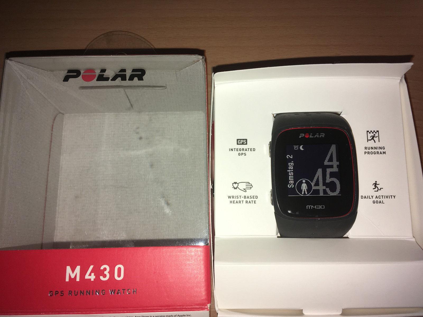 Polar M430, grau/schwarz, 100%ig in Ordnung