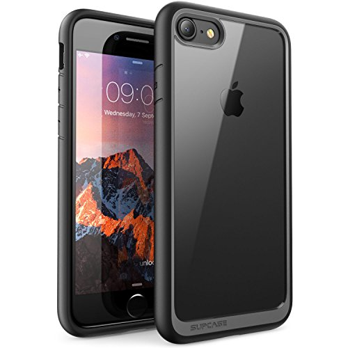 iPhone 8 Hülle, SUPCASE [Unicorn Beetle Style] Premium Handyhülle Hybrid Transparent Schutzhülle Kratzfest Schale Cover (Kompatibel mit Apple iPhone 7 / iPhone 8) (Schwarz)