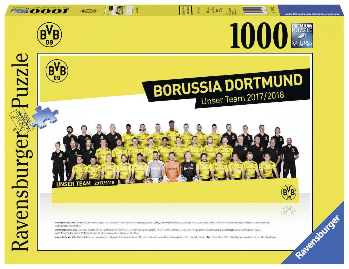 1000 Teile Ravensburger Puzzle BVB Borussia Dortmund Saison 2017 / 2018 19854