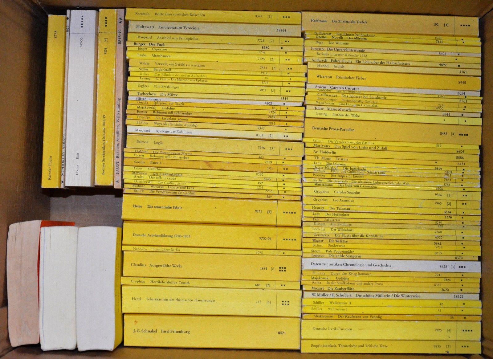 175 Reclam Universal Bibliothek Hefte Philosophie Literatur Klassiker Sammlung