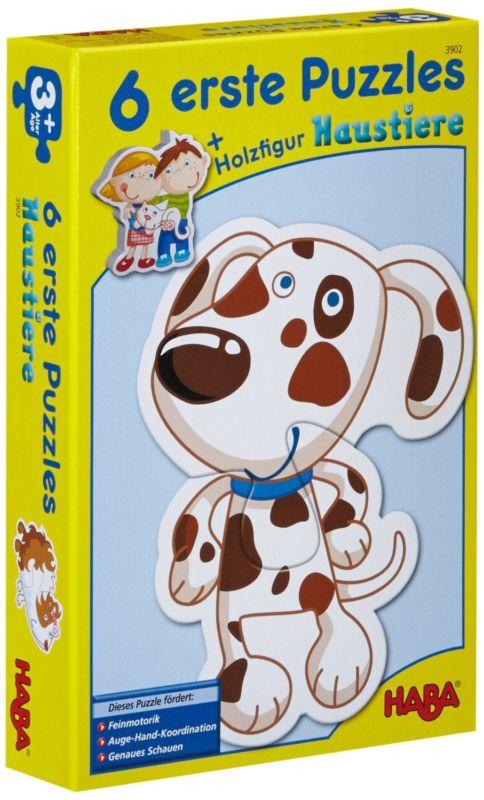 Erste Puzzle - Haustiere von Haba 3902 - 6 tolle Motive für Kinder ab 2 Jahren