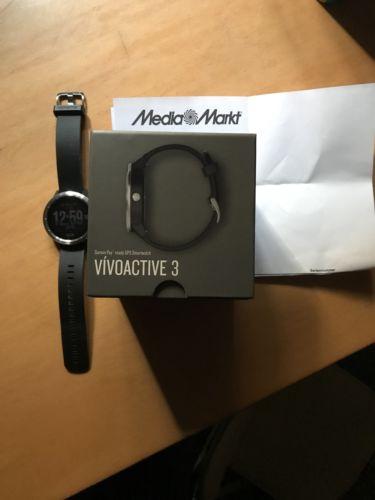 Garmin Vivoactive 3, silber / schwarzes Armband, GPS Smartwatch