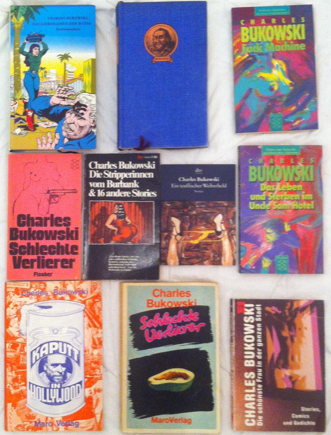 Sammlung 10x Charles Bukowski Lot gebraucht gebunden Taschenbücher mit Erstausg.