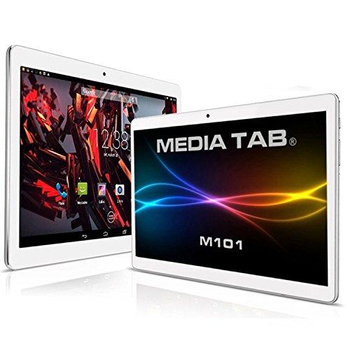 MediaTab Tablet-PC M101 Tab (WLAN 3G, GPS Navigation, 2 GB RAM) 10 Zoll 64GB (ohne Tastatur/Tasche) - Silver