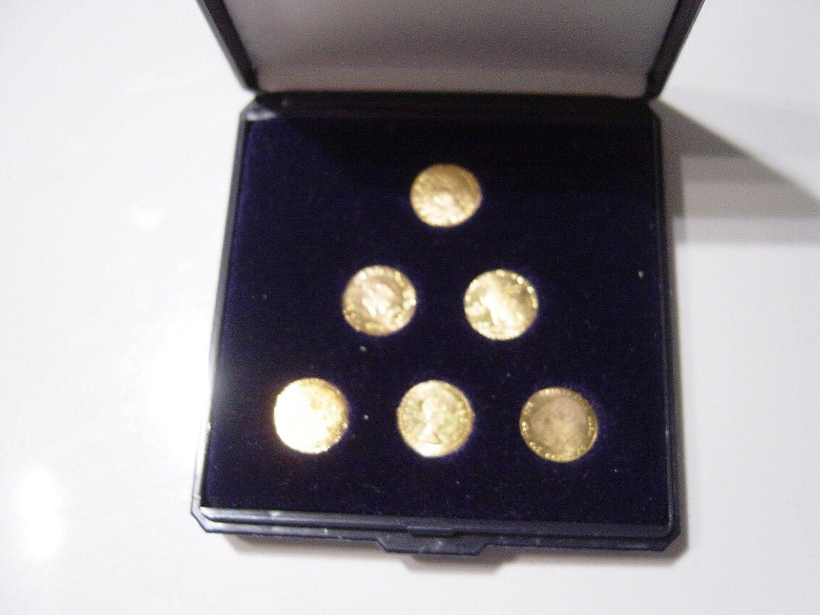 6 Goldmünzen Goldmedalien